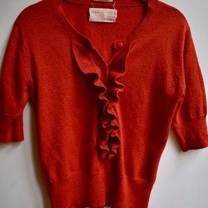 Sparkly orange retro top